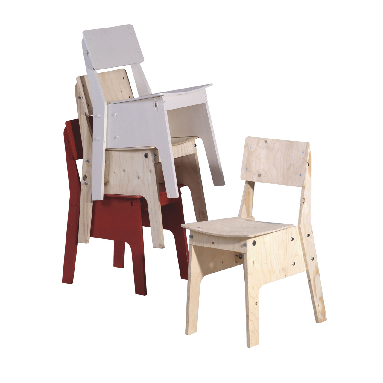 Crisis Chair by Piet Hein Eek in Plywood