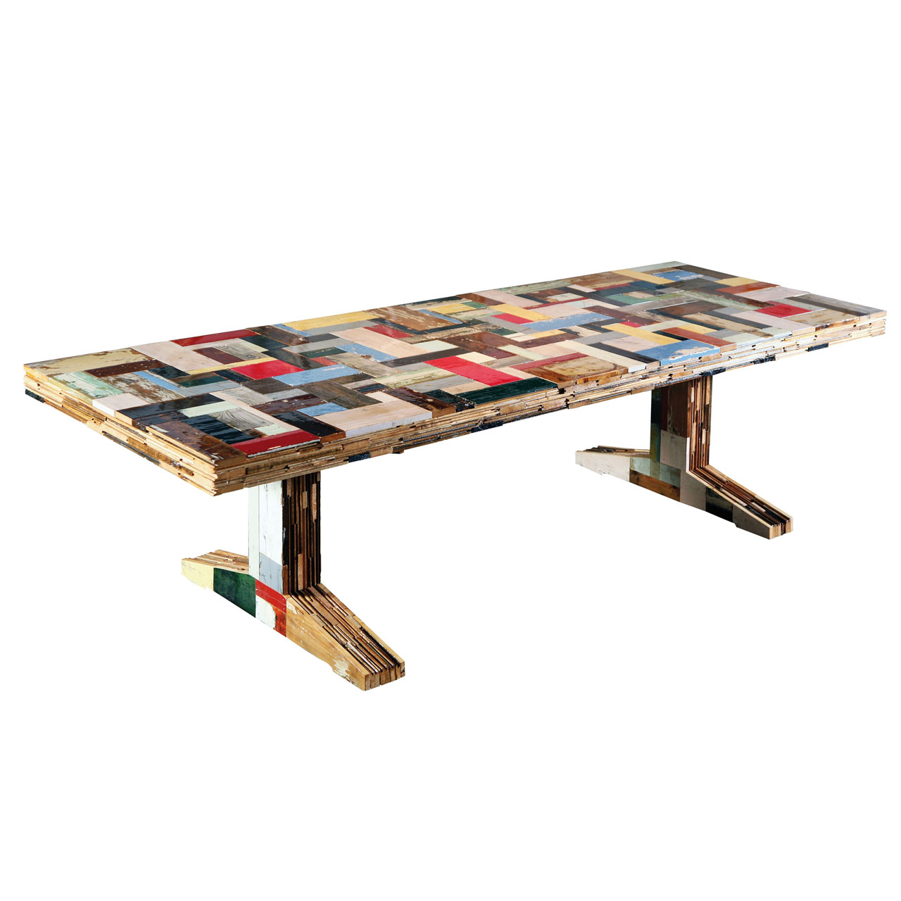 Waste Table Scrapwood by Piet Hein Eek