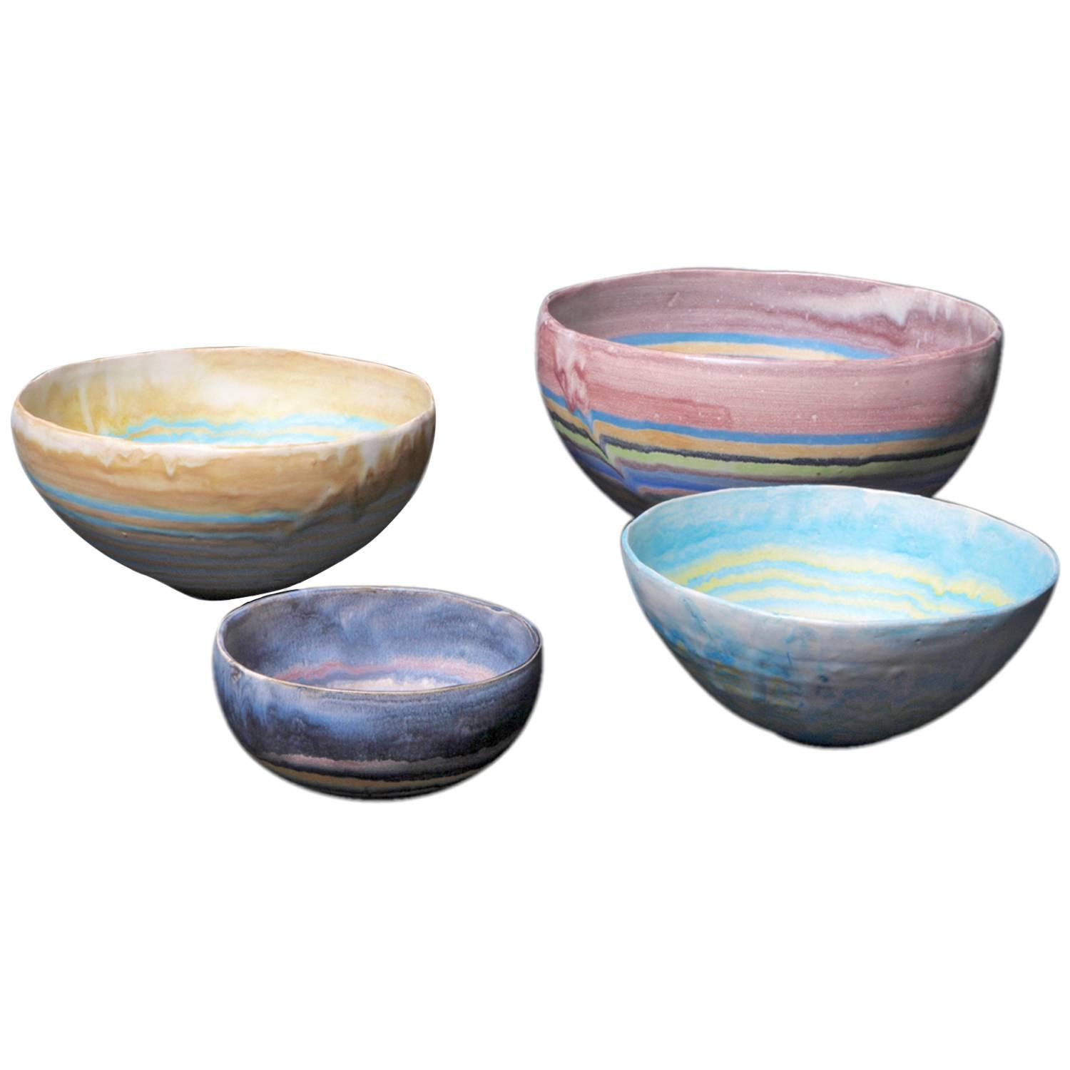 Set of Four Sound Bowls by Susanne Protzmann
