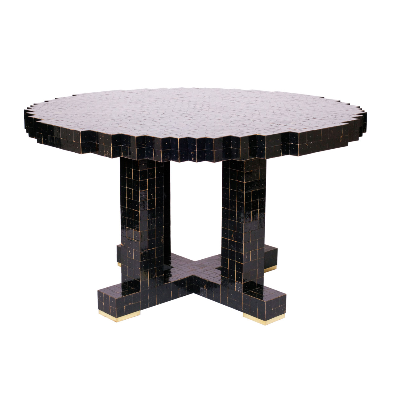 "One of a kind ""40 x 40 Waste "" Dining Table by Piet Hein Eek"