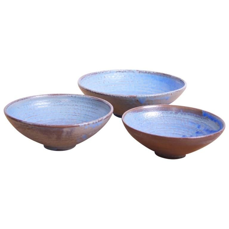 Set of Three Large Susanne Protzmann Ceramic Bowls